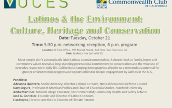 Adrianna Quintero, other enviro leaders to speak at Commonwealth Club of California next Tuesday, Oct. 21